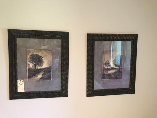 "2 Decorative framed outdoor pictures 21.5"" X 25.5"". NO SHIPPING!"