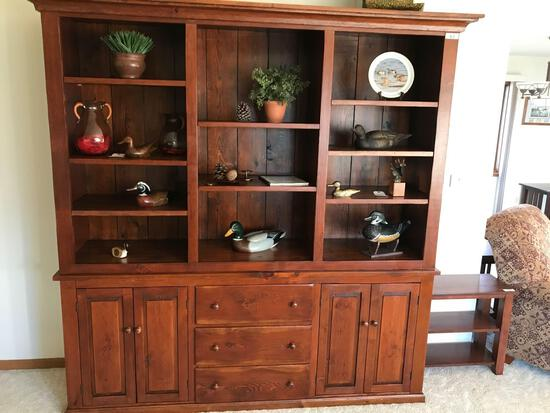 Large Wood Cabinet/Book Shelf 78'' Wx20''Dx7' T. NO SHIPPING AVAILABLE!