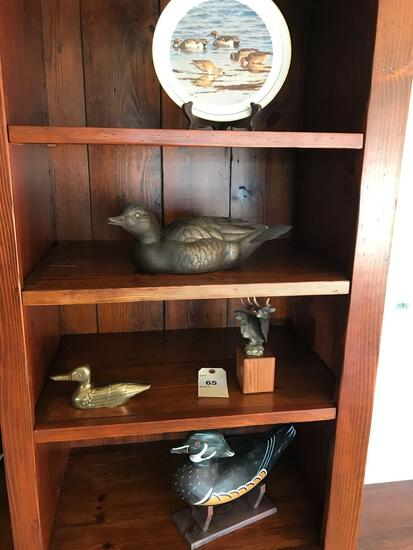 Assorted Duck Decoys, Ducks Unlimited Plate, and More