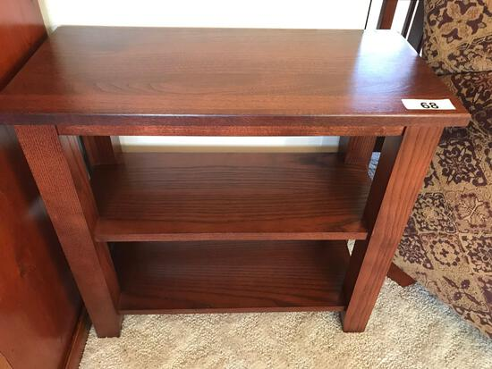 Oak End table 25''Wx12''Dx23''T. NO SHIPPING AVAILABLE!