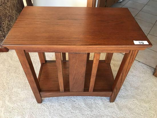Oak End table 27'' Wx15.5 Dx 25''T. NO SHIPPING AVAILABLE!