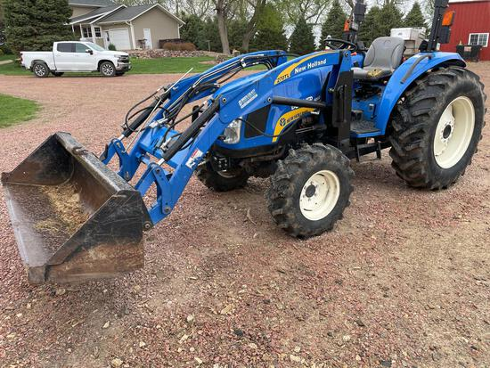 NEW HOLLAND BOOMER 4060 TRACTOR and 270TL LOADER