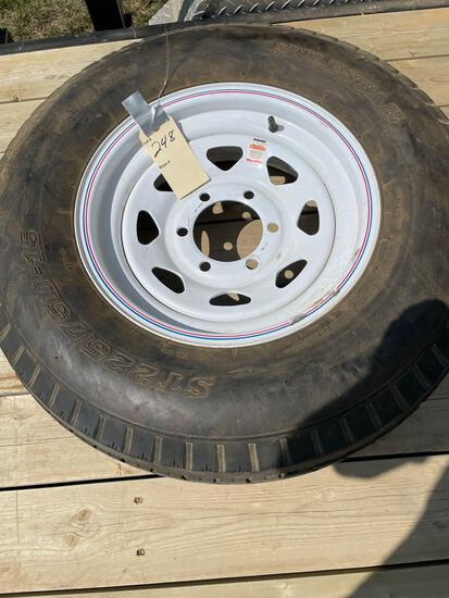 ST225/75x15 TIRE and RIM