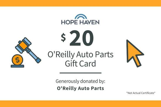 O' Reilly Auto Parts $20 Gift Card