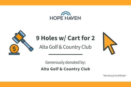 Alta Golf Club Package- 9 holes for 2