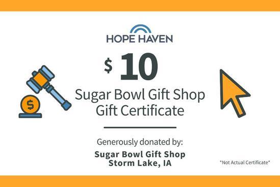 Sugar Bowl Gift Shop $10 Gift Card