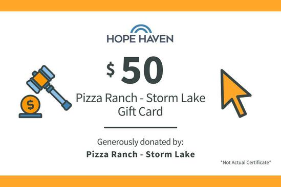 Pizza Ranch $50 Gift Card