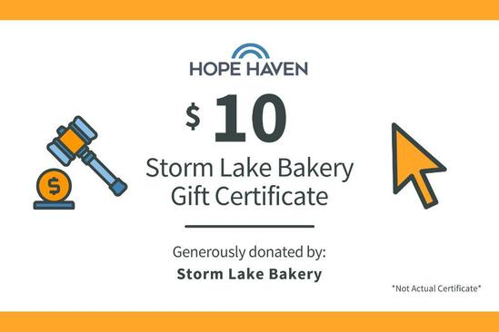 Storm Lake Bakery $10 Gift Card