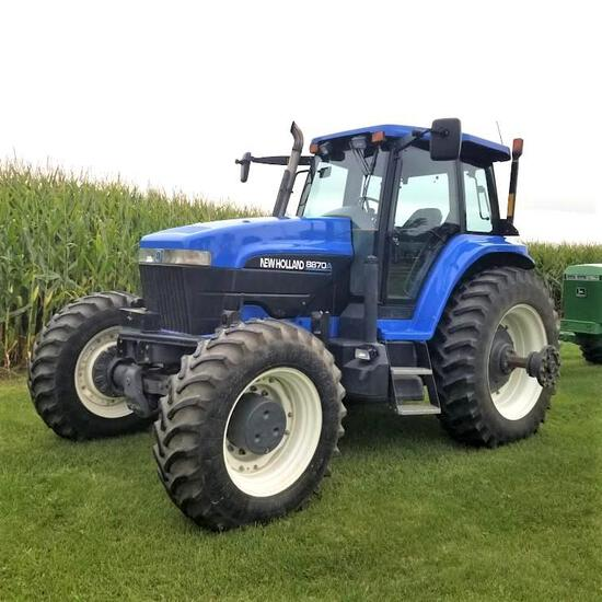 """2001 NEW HOLLAND """"8870A"""" TRACTOR, CAB, SUPER STEER MFD"""