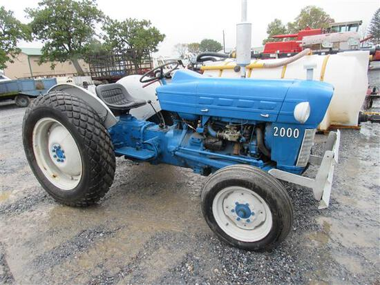 Blue Ford 2000 Tractor