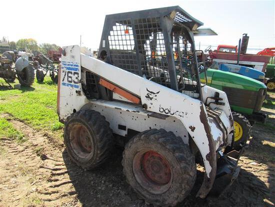 Bobcat 763 OROPS,Kubota Dsl,8582 Hrs (not running)