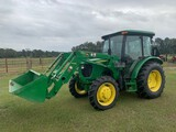 JD 5055E Cab Tractor w/H240 Ldr,4WD,C/H/A,792 Hrs,