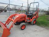 Kubota BX24 Tractor Loader Backhoe, Ride & Drive