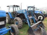 NH 6640 4WD Cab Tractor w/Loader