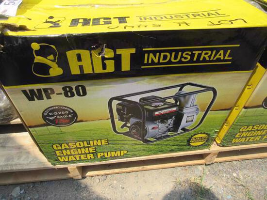 """(New) AGT 3"""" Water Pump WP 80 w/ Gas Engine"""