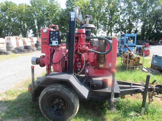 """6"""" MultiQuip Pump w/ JD4024 Dsl Engine, 1069 hrs"""