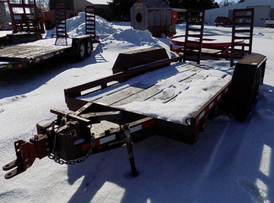 "70x144"" tandem axle trailer"