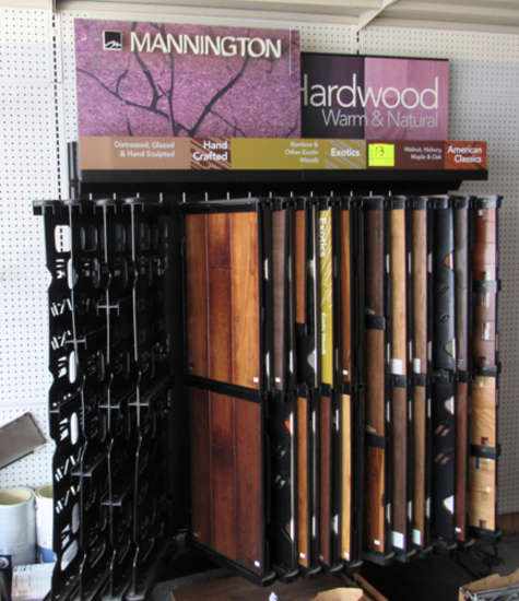 Mannington HW flooring display rack