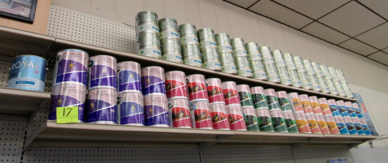 Display-only paint cans & 3 pictures