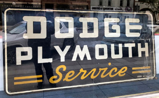Dodge Plymouth Service sign