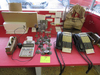 Lot of phones, bagger, calculator, point of sale items
