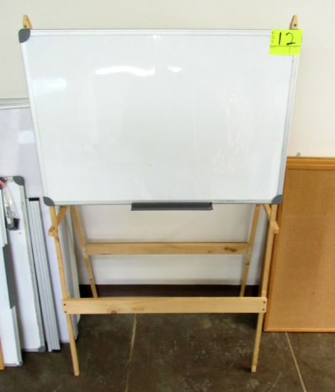 White board on easel