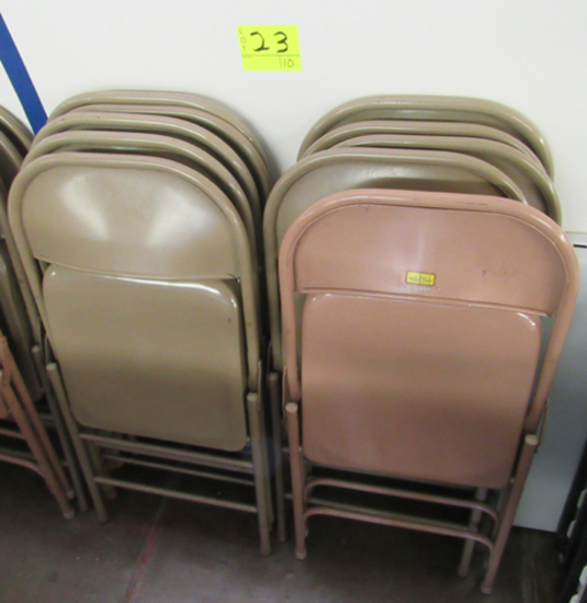 Lot of 10 metal folding chairs