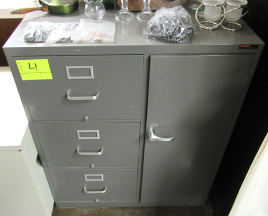 3-drawer file cabinet w/ door
