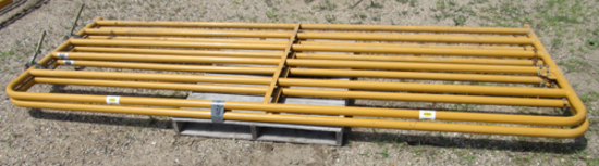 """lot of 2 Sioux 140"""" livestock gates"""