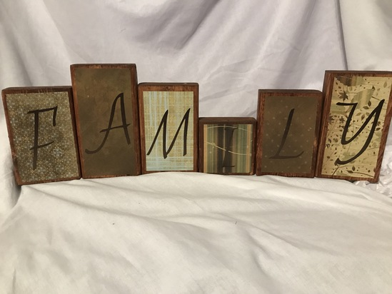 Double-Sided Sayings Blocks- Family