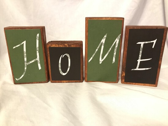 Double Sided sayings - Home - Wooden Blocks