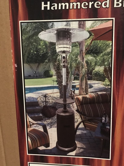Propane Patio Heater with Table- Hammered Bronze Finish