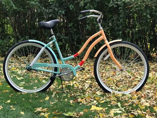 "26"" Ladies Teavana Cruiser Bike- Peach/Aqua"
