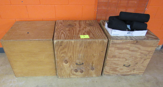 3 wooden boxes