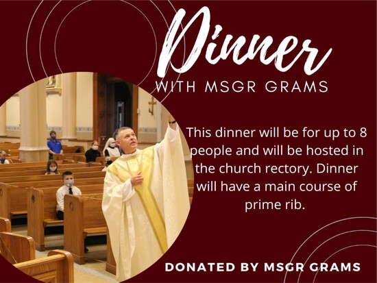 Dinner with Msgr Grams