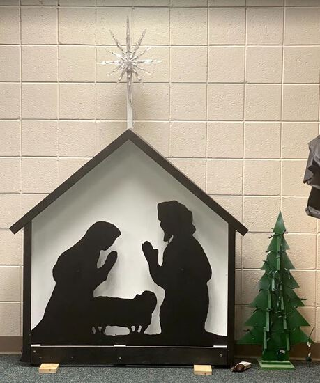 Handmade Wood Outdoor Nativity