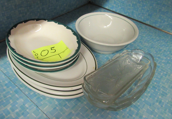 plates and serving dishes