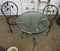 patio glass top table and chairs