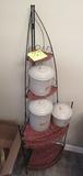 Red Wing set, cookie jar and corner shelf