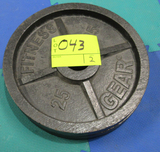 2 - 25 lb weights