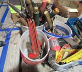 4 buckets of tools