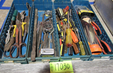 4 trays of tools