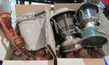 lanterns, coffee kettle