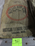 3 gunny sacks, CA Blackeyes, CA small white beans & MI Navy Beans