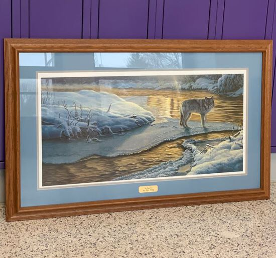 Framed Wolf Print