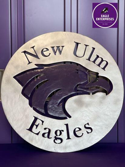 Metal New Ulm Eagles Wall Art
