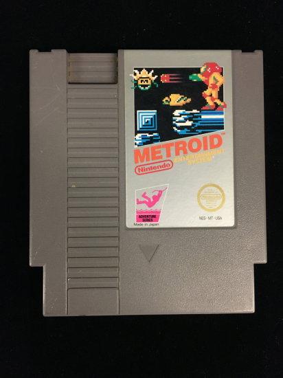 NES Nintendo Metroid Video Game Cartridge