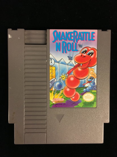 NES Nintendo Snakerattle N Roll Video Game Cartridge
