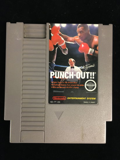 NES Nintendo Punch-Out!! Video Game Cartridge