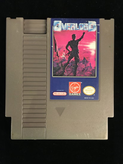 NES Nintendo Overlord Video Game Cartridge